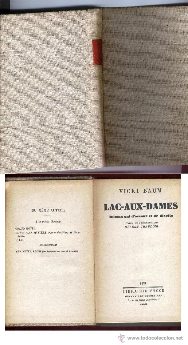 Libros antiguos: LAC-AUX-DAMES - VICKY BAUM (1934) TELA EDITORIAL - PARIS - Foto 1 - 47668871