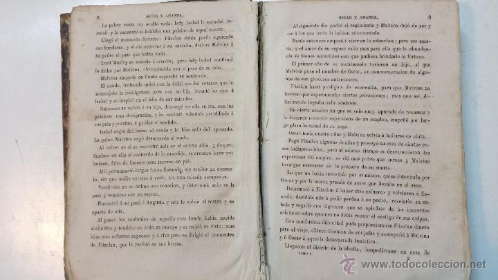Libros antiguos: OSCAR Y AMANDA. POR REGINA MARIA ROCHE. ESPASA HNOS EDITORES. AÑO 1868. 2 VOLUMENES.VER - Foto 4 - 47776528