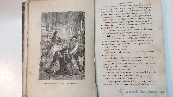 Libros antiguos: OSCAR Y AMANDA. POR REGINA MARIA ROCHE. ESPASA HNOS EDITORES. AÑO 1868. 2 VOLUMENES.VER - Foto 5 - 47776528