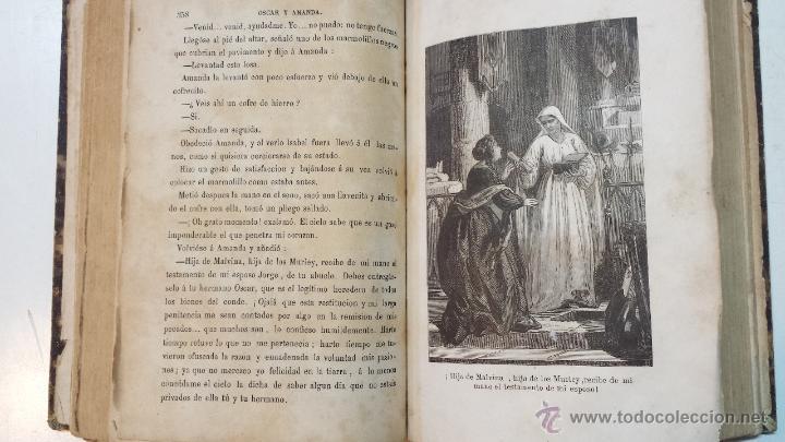 Libros antiguos: OSCAR Y AMANDA. POR REGINA MARIA ROCHE. ESPASA HNOS EDITORES. AÑO 1868. 2 VOLUMENES.VER - Foto 12 - 47776528