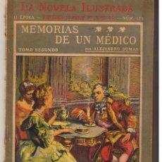Libros antiguos: LA NOVELA ILUSTRADA. Nº 121. MEMORIAS DE UN MÉDICO. ALEJANDRO DUMAS. (TTRO5). Lote 48445875