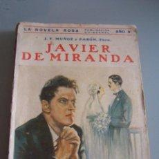 Libros antiguos: JAVIER DE MIRANDA. J. F. MUÑOZ Y PABON, 1928. Lote 49671082