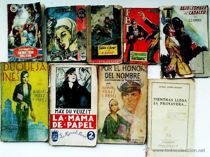 Nueve Novelas Romanticas De Los Años 30 , 40 Y