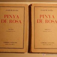 Libros antiguos: PINYA DE ROSA, VOLUMS I I II, JOAQUIM RUYRA I OMS. Lote 50072589