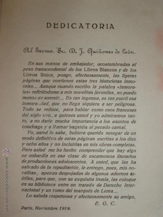Libros antiguos: TRES NOVELAS INMORALES DE E. GÓMEZ CARRILLO - Foto 3 - 52139908