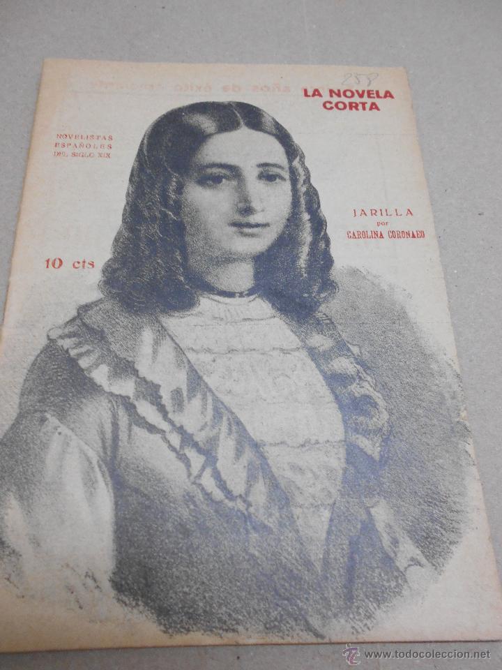 CAROLINA CORONADO: JARILLA. LA NOVELA CORTA. Nº 258, 1920. (Libros antiguos (hasta 1936), raros y curiosos - Literatura - Narrativa - Novela Romántica)