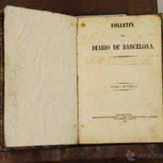Libros antiguos: 7022 - FOLLETIN DE BARCELONA. VV. AA(VER DESCRIP).IMP. DIARIO DE BARCELONA. 1857.. Lote 52473861