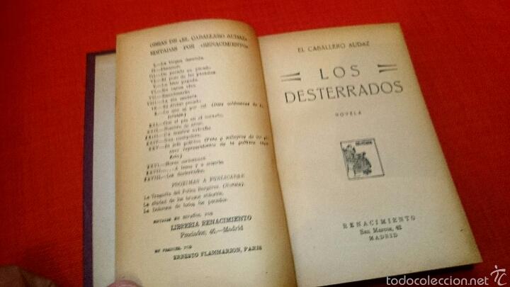 CABALLERO AUDAZ -LOS DESTERRADOS-ED RENACIMIENTO 1924 (Libros antiguos (hasta 1936), raros y curiosos - Literatura - Narrativa - Novela Romántica)