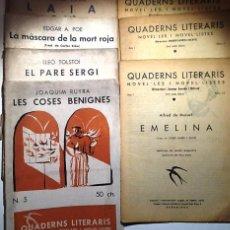 Libros antiguos: QUADERNS LITERARIS-NOVEL-LES I NOVEL-LISTES. 7 EJEM.(VER DESCRIP). . Lote 53981143