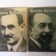 Libros antiguos: LA MONJA DE CERA / EL HOMBRE QUE TODO LO SABIA. RAFAEL LOPEZ / MANUEL LINARES.LA NOVELA SEMANAL 1921. Lote 54079352