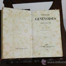 Libros antiguos: 5894 - NOUVELLES GENEVOISES. PAR M. TOPFFER - PARIS ED. CHARPENTIER. 1846. Lote 54641780