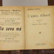 Libros antiguos: 7258 - BIBLIOTECA GENTIL. 10 EJEMPLARES(VER DESCRIP). FOLCH I TORRES. S/F.. Lote 54780133