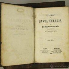 Libros antiguos: 6988 - EL PENDÓN DE SANTA EULALIA. MANUEL ANGELON. EDI. LUJO. LIBR. ESPAÑOLA. 1858.. Lote 52359104