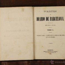 Libros antiguos: 7000 - FOLLETIN DEL DIARIO DE BARCELONA,TOMOS V Y IX.(VER DESCRIP). IMP. DE BARCELONA. 1864/67.. Lote 52384120
