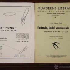 Libros antiguos: 6689 - QUADERNS LITERARIS NOVEL-LES I NOVEL-LISTES. 19 EJEM.(VER DESCRIP). LIB. CATALONIA. S/F.. Lote 50049959