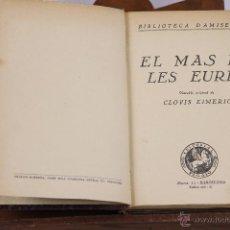 Libros antiguos: 6338 - LOTE 6 EJEMPLARES. CLOVIS EIMERIC.(VER DESCRIPCCIÓN). EDIT. PEGASO. 1924.. Lote 49521664