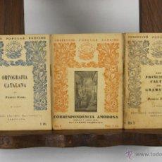 Libros antiguos: 5625- COL-LECCIO POPULAR BARCINO. EDIT. BARCINO. AÑOS 20/30. 10 TITULOS.. Lote 46145751