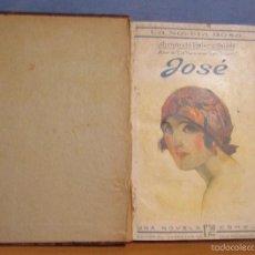 Libros antiguos: LA NOVELA ROSA JOSE -ARMANDO PALACIOS VALDES- 1º DE FEBRERO DE 1924 ENCUADERNADA (R. CHULIA VALEN). Lote 55691456