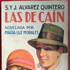 Libros antiguos: SERAFÍN Y JOAQUÍN ÁLVAREZ QUINTERO . LAS DE CAÍN . JUVENTUD 1932. Lote 55712665
