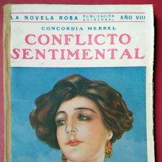 Libros antiguos: CONCORDIA MERREL . CONFLICTO SENTIMENTAL . JUVENTUD 1931. Lote 55715859