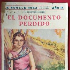 Libros antiguos: H. COURTHS-MAHLER . EL DOCUMENTO PERDIDO. Lote 147179037
