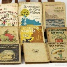 Libros antiguos: 7374 - BIBLIOTECA PATUFET. 9 VOLUM(VER DESCRIP). J. M. FOLCH I TORRES. 1917-1937.. Lote 56149908