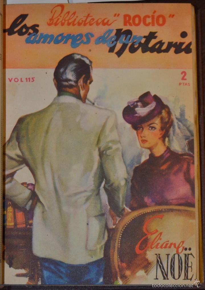 Libros antiguos: VOLUMEN ENCUADERNADO EN MOIRE CON 7 NOVELAS ROMANTICAS BIBLIOTECA ROCIO. BETIS AÑOS 1936 A 46. TAPAS - Foto 5 - 56158965