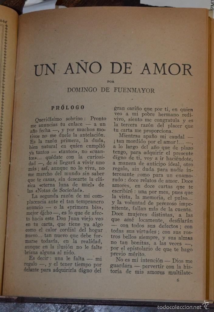 Libros antiguos: VOLUMEN ENCUADERNADO EN MOIRE CON 7 NOVELAS ROMANTICAS BIBLIOTECA ROCIO. BETIS AÑOS 1936 A 46. TAPAS - Foto 8 - 56158965