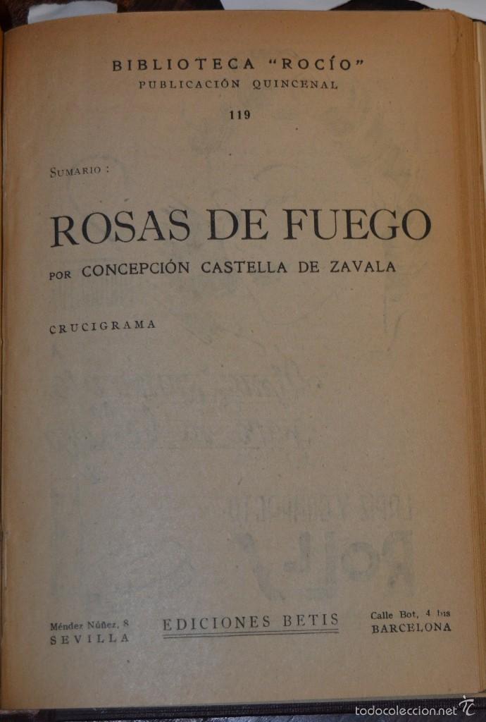 Libros antiguos: VOLUMEN ENCUADERNADO EN MOIRE CON 7 NOVELAS ROMANTICAS BIBLIOTECA ROCIO. BETIS AÑOS 1936 A 46. TAPAS - Foto 9 - 56158965