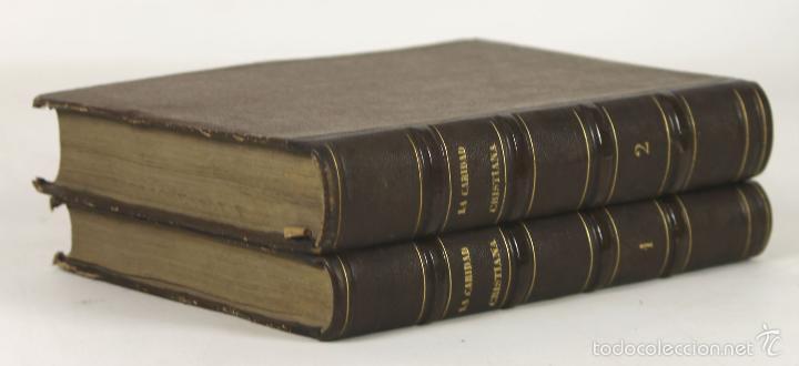 7384 - LA CARIDAD CRISTIANA. TOMOS I Y II(VER DESCRIP). E. PEREZ. EDI. L. LOPEZ. 1865. (Libros antiguos (hasta 1936), raros y curiosos - Literatura - Narrativa - Novela Romántica)