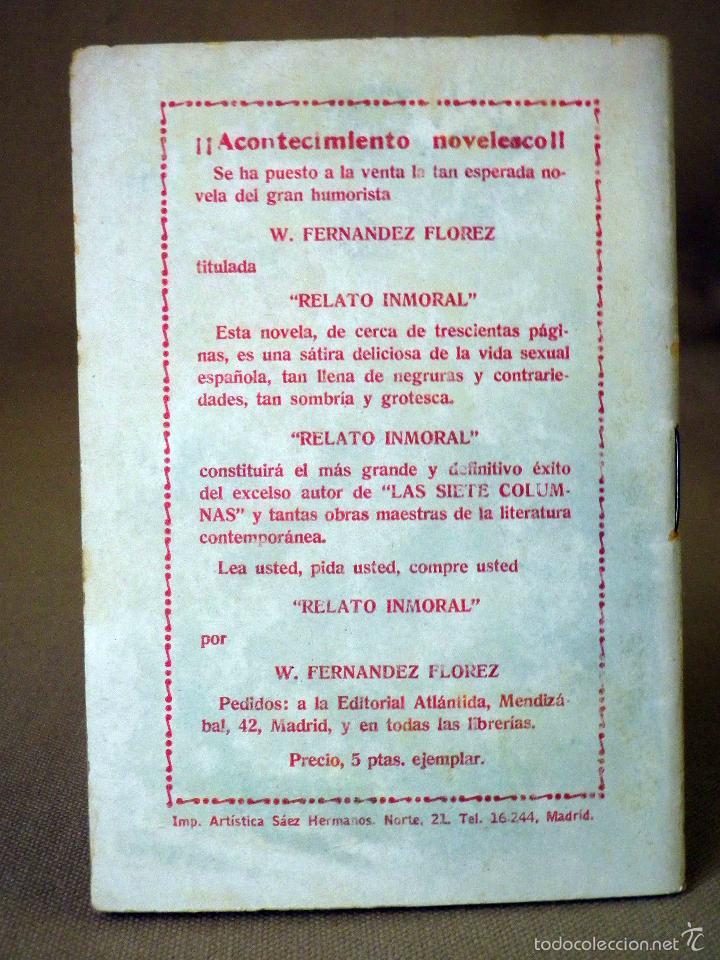 Libros antiguos: LA NOVELA DE HOY, Nº 330, ED. ATLANTIDA, UN POBRE LOCO, VIDAL Y PLANAS, MADRID 1928 - Foto 3 - 56429905