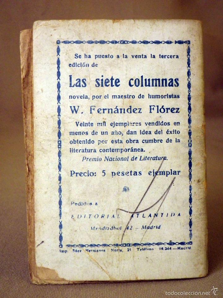 Libros antiguos: LA NOVELA DE HOY, Nº 266, ED. ATLANTIDA, LO HORRIBLE, EDUARDO ZAMACOIS, MADRID 1927 - Foto 3 - 56453112