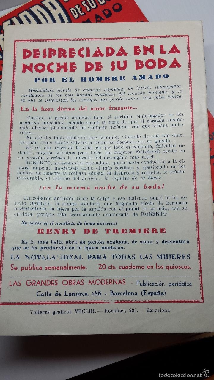 Libros antiguos: DESPRECIADA EN LA NOCHE DE SU BODA-DE HENRY DE TREMIERE-COLECCIÓN COMPLETA DE 38 UNIDADES - Foto 5 - 56511077