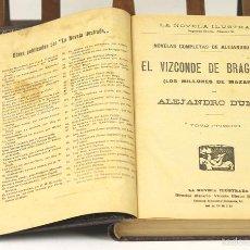 Libros antiguos: 7540 - EL VIZCONDE DE BRAGELONNE. 6 TOMOS EN 1 VOLUM(VER DESCRIP). IMP. A. MARZO. S/F.. Lote 56939929