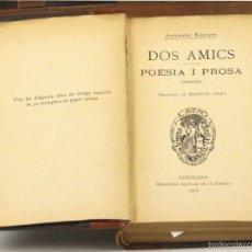 Libros antiguos: 7561 - BIBLIOTECA POPULAR DE L'AVEÇ. 6 TOMOS EN 1 VOLUM(VER DESCRIP). VV. AA. 1903-08.. Lote 57087808
