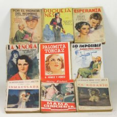 Libros antiguos: 7593 - LA NOVELA ROSA. 9 EJEMPLARES(VER DESCRIP). VV. AA. EDIT. JUVENTUD. 1924/1937.. Lote 57295267