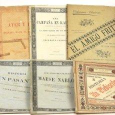 Libros antiguos: 7596 - EDITOR LUÍS TASSO. 6 EJEMPLARES(VER DESCRIP). E. CHATRIAN. 1882-1885.. Lote 57298988