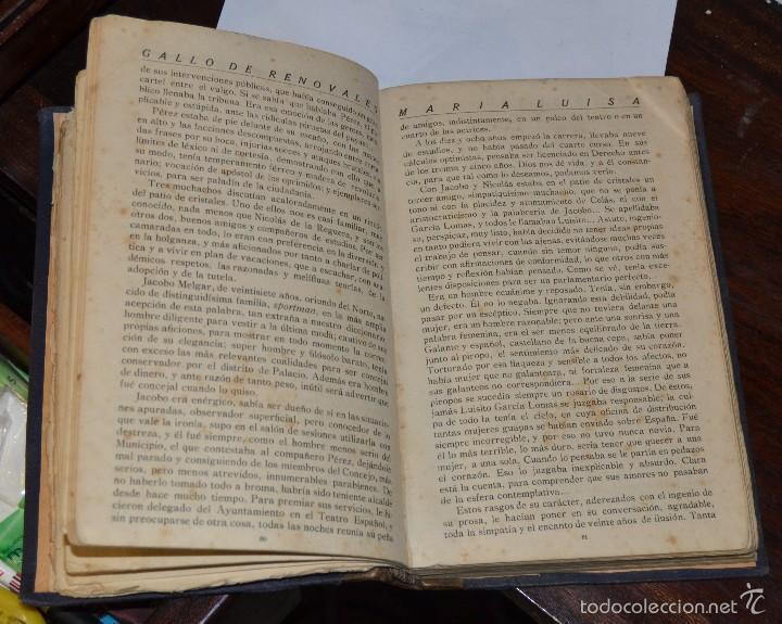 Libros antiguos: MARIA LUISA . NOVELA. GALLO DE RENOVALES. ESTABLECIMIENTO EDITORIAL IBERICA MADRID 1929 - Foto 5 - 57399608