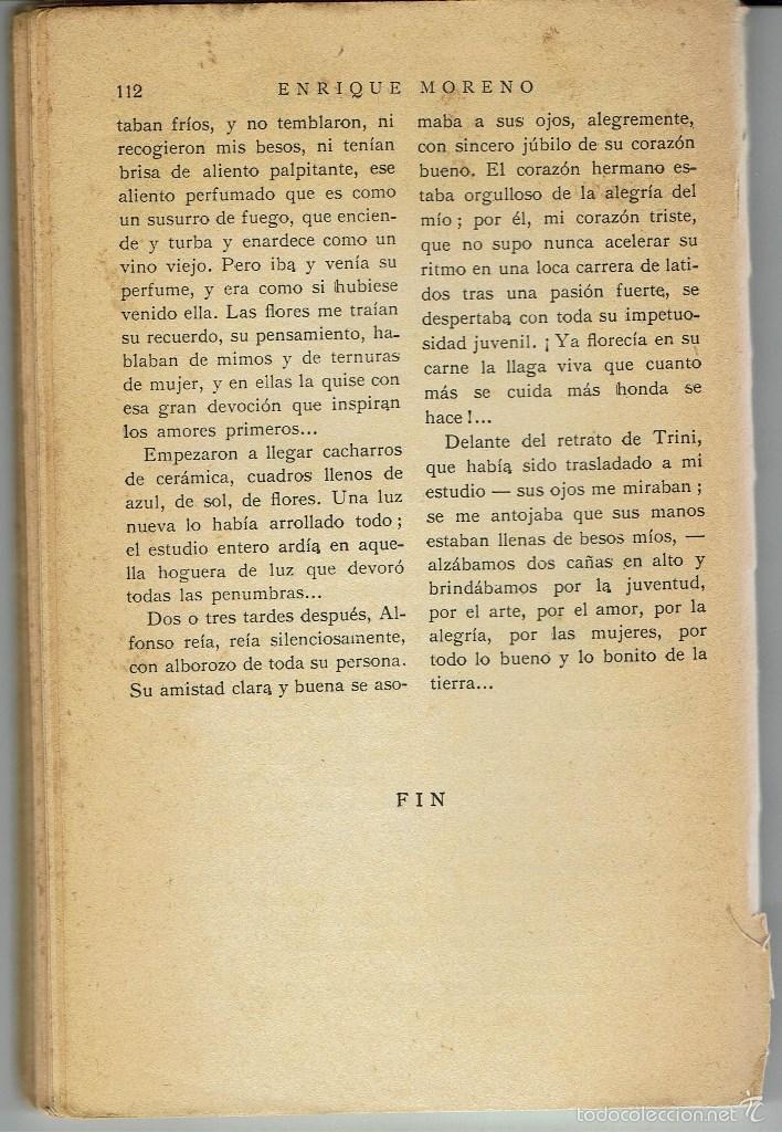 Libros antiguos: UN AMOR ROMÁNTICO, POR ENRIQUE MORENO. LA NOVELA ROSA Nº 191. AÑO 1931. (AP) - Foto 2 - 57479267