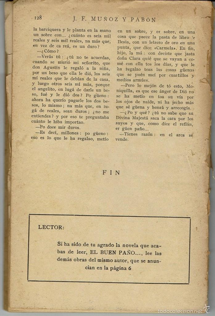 Libros antiguos: EL BUEN PAÑO..., DE JUAN F. MUÑOZ Y PABÓN. LA NOVELA ROSA Nº 51. AÑO 1926. (AP) - Foto 2 - 57489062