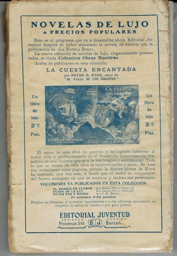 Libros antiguos: NUESTRO AMIGO JUAN, DE J. AGUILAR CATENA. LA NOVELA ROSA Nº 55. AÑO 1926 (AP) - Foto 2 - 57500086