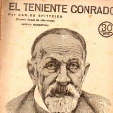 Libros antiguos: CARLOS SPITTELER : EL TENIENTE CONRADO (NOVELAS Y CUENTOS, 1935). Lote 57833591