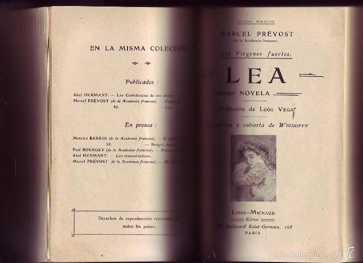 FEDERICA. LEA. MARCEL PRÉVOST.NOVELAS. 2 OBRAS EN 1 VOL. (Libros antiguos (hasta 1936), raros y curiosos - Literatura - Narrativa - Novela Romántica)