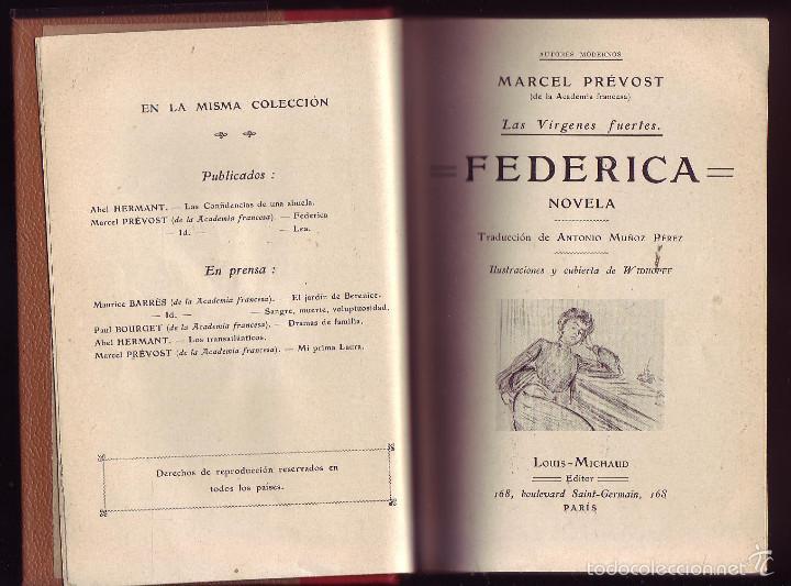Libros antiguos: FEDERICA. LEA. Marcel Prévost.Novelas. 2 obras en 1 vol. - Foto 3 - 58097984