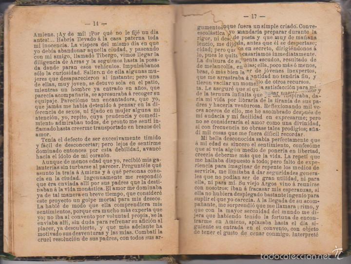 Libros antiguos: ABATE PRÉVOST - HISTORIA DE MANÓN LESCAUT Y EL CABALLERO DE GRIEUX - TR. PEDRO CLAVIJO - MAUCCI 1899 - Foto 2 - 59142475