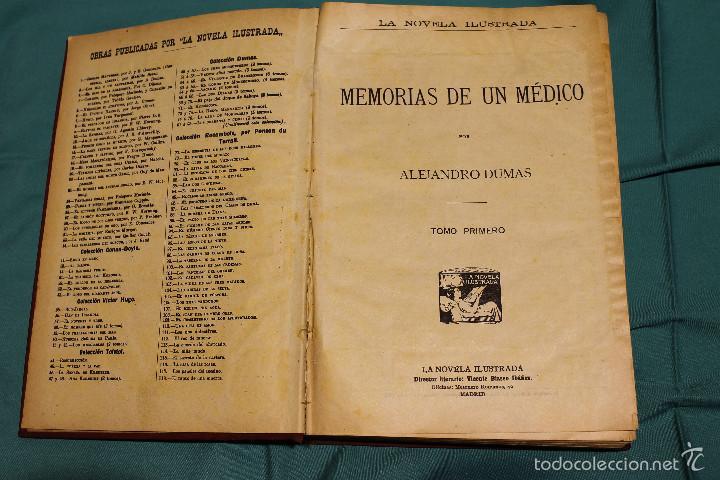 MEMORIAS DE UN MEDICO .ALEJANDRO DUMAS EDITORIAL LA NOVELA ILUSTRADA (Libros antiguos (hasta 1936), raros y curiosos - Literatura - Narrativa - Novela Romántica)