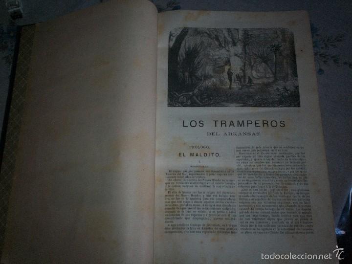 Libros antiguos: Los tramperos por Gustavo Aymard editores Gaspar y Roig 1874 con grabados - Foto 3 - 210015128