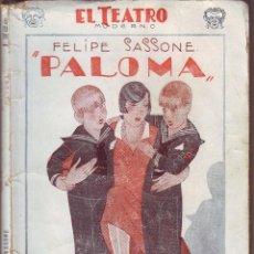 Libros antiguos: PALOMA DE FELIPE SASSONE 1928. Lote 61567968