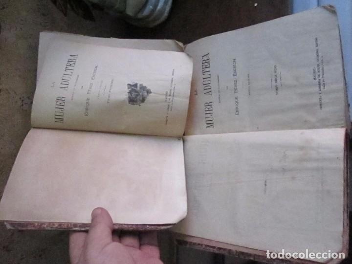 Libros antiguos: La mujer Adúltera, tomos 1 y 2, 6ª edicion 1864, por E. Perez Escrich editor Miguel Guijarro - Foto 2 - 62098204