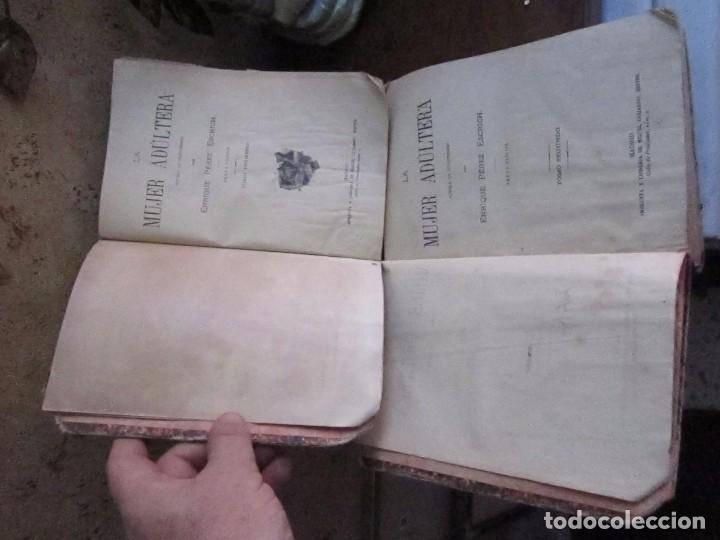 Libros antiguos: La mujer Adúltera, tomos 1 y 2, 6ª edicion 1864, por E. Perez Escrich editor Miguel Guijarro - Foto 3 - 62098204